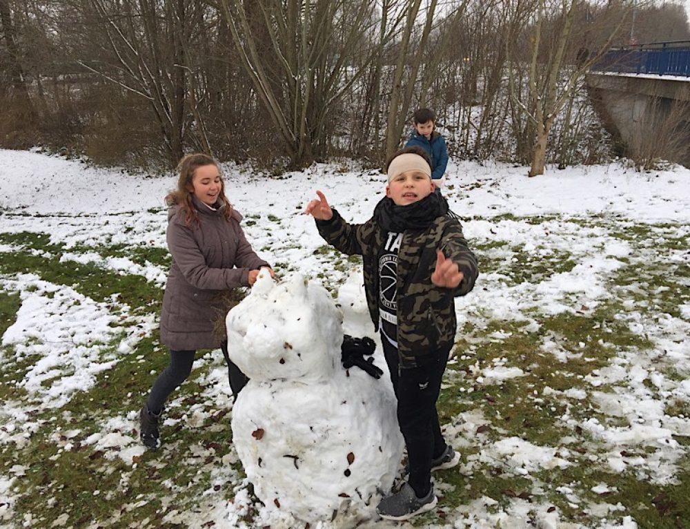 Ein Schneemann für den Ganztag