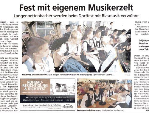 "Fest mit eigenem Musikerzelt – ""Bembegga"""